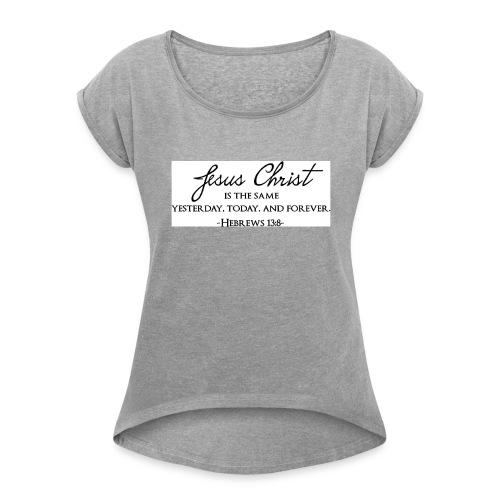 61oNtJ8q3FL SL1097 - Women's Roll Cuff T-Shirt