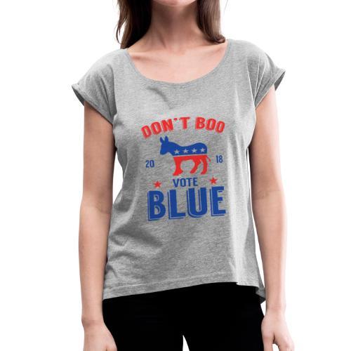 Midterm Elections 2018 Gift T-Shirt - Women's Roll Cuff T-Shirt
