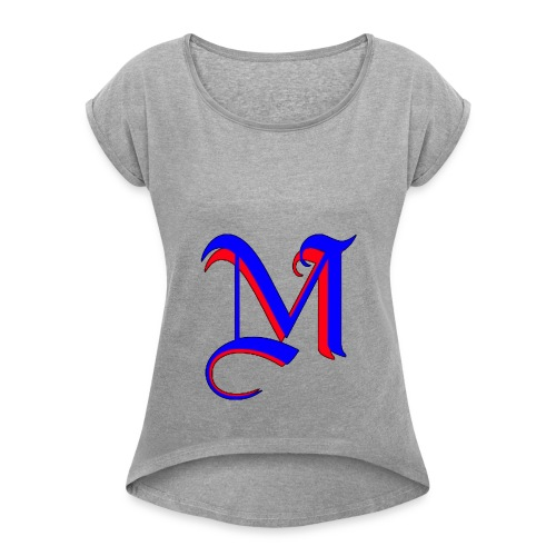 madMusic_Records - Women's Roll Cuff T-Shirt