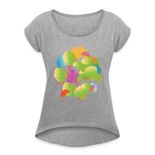 Flora - Women's Roll Cuff T-Shirt