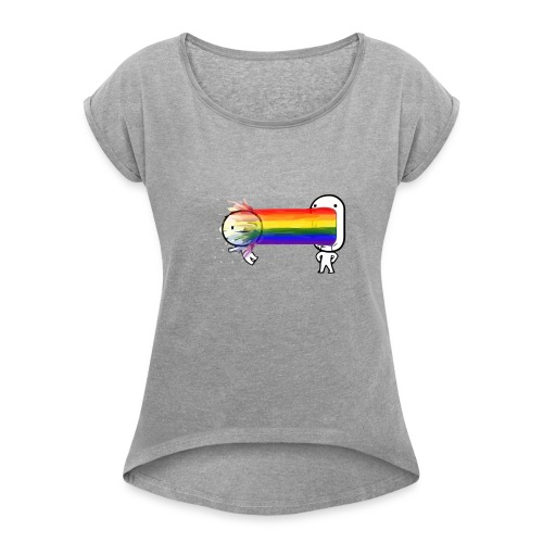 i need to spew - Women's Roll Cuff T-Shirt