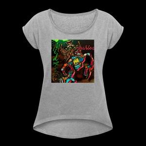 Roatyrant - MechaniKrab - Women's Roll Cuff T-Shirt