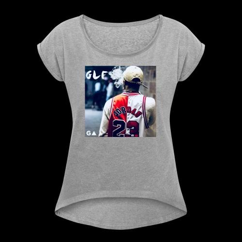 GLF RARE LINE - Women's Roll Cuff T-Shirt
