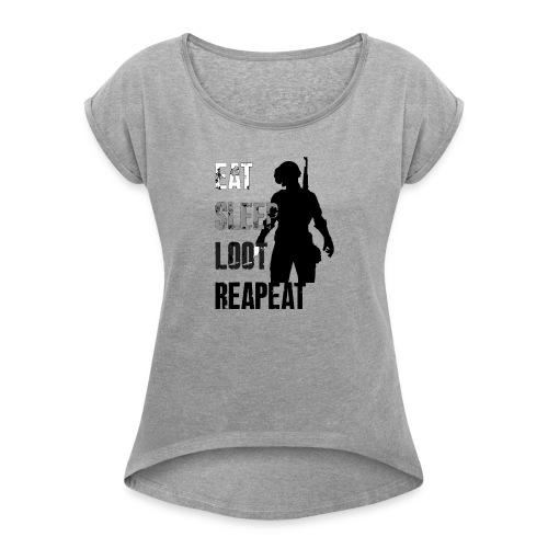 pubg - Women's Roll Cuff T-Shirt