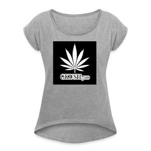 Weed Leaf Gkush710 Hoodies - Women's Roll Cuff T-Shirt