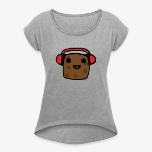 Shirt Design Potato - Women's Roll Cuff T-Shirt