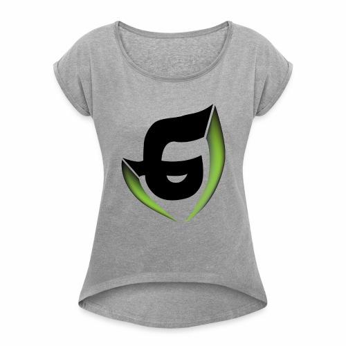 Plain logo - Women's Roll Cuff T-Shirt