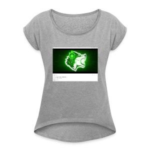 Wolf gamer - Women's Roll Cuff T-Shirt