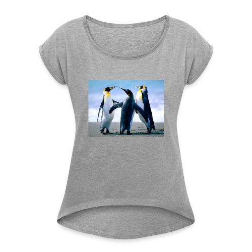 Penguins - Women's Roll Cuff T-Shirt