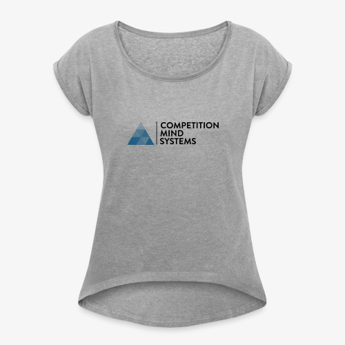 CMS Blue logo - Women's Roll Cuff T-Shirt