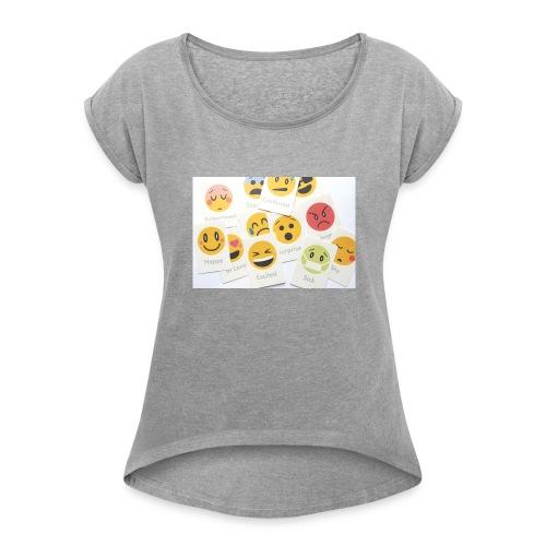 Emotions - Women's Roll Cuff T-Shirt