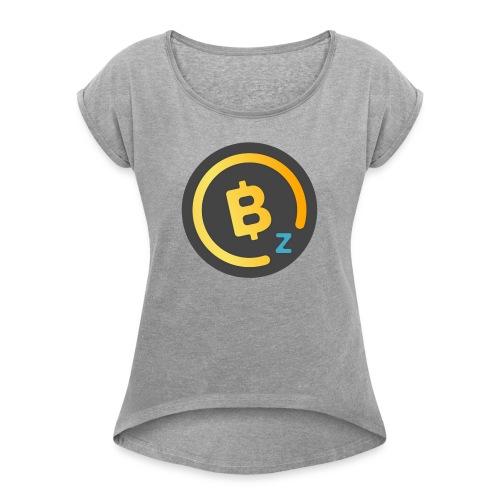 BitcoinZ Logo - Women's Roll Cuff T-Shirt