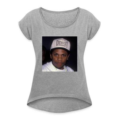 Compton N.W.A Eazy E - Women's Roll Cuff T-Shirt