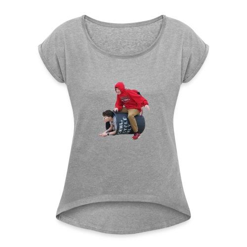 Downy Spacemen - Women's Roll Cuff T-Shirt
