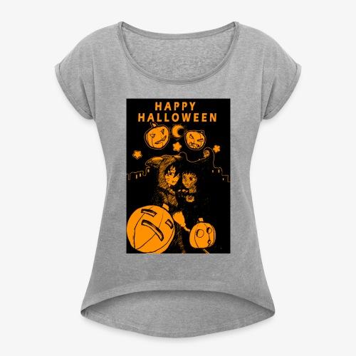 Happy Haloween! - Women's Roll Cuff T-Shirt