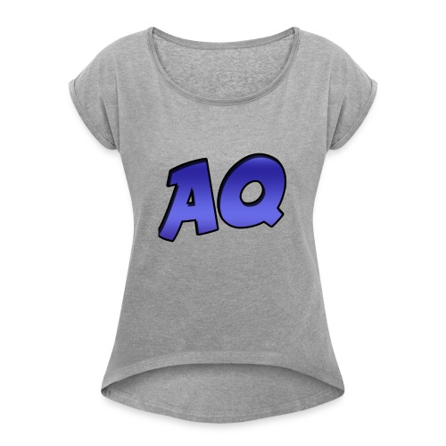 New Text AQ Merchandise! - Women's Roll Cuff T-Shirt