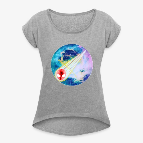 space explorers - Women's Roll Cuff T-Shirt