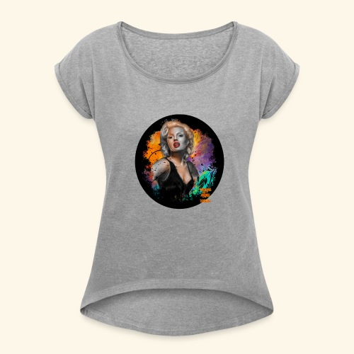 Marilyn Monroe - Women's Roll Cuff T-Shirt