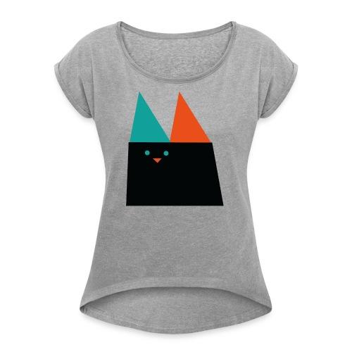 GEOMETRIC CAT - Women's Roll Cuff T-Shirt