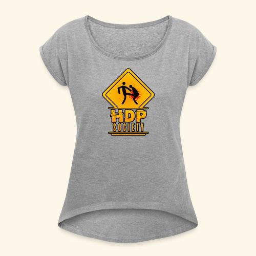HDP Society Logo Full - Women's Roll Cuff T-Shirt