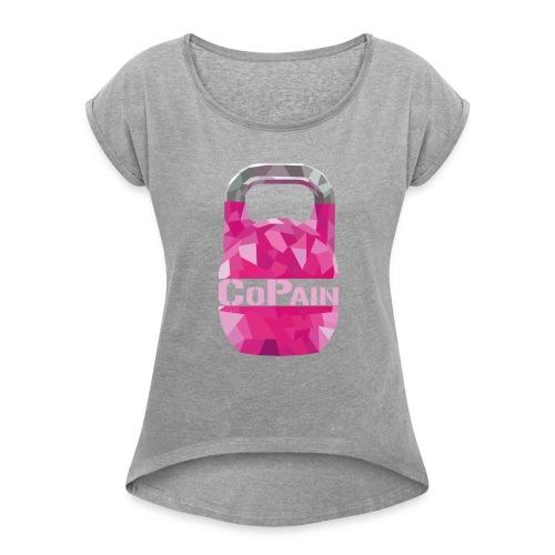 tshirt kettlebell rose CoPain - Women's Roll Cuff T-Shirt