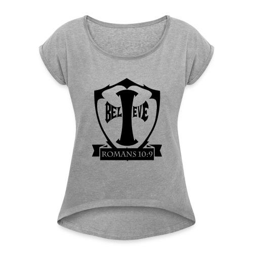 romans109-final - Women's Roll Cuff T-Shirt