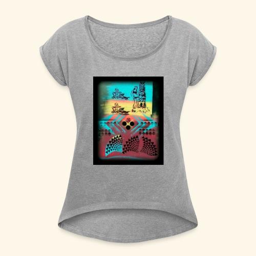 Aloha Pattern - Women's Roll Cuff T-Shirt