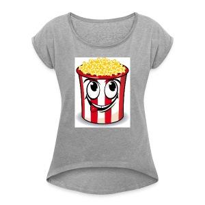 popcorn men - Women's Roll Cuff T-Shirt