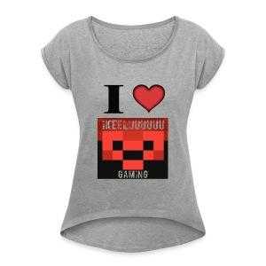 I heart ike - Women's Roll Cuff T-Shirt