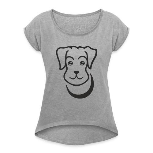 puppy - Women's Roll Cuff T-Shirt