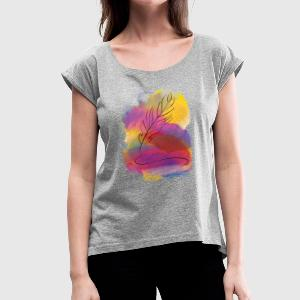 Feather - Women´s Roll Cuff T-Shirt