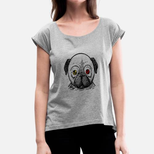 dog t-shirt - Women's Roll Cuff T-Shirt