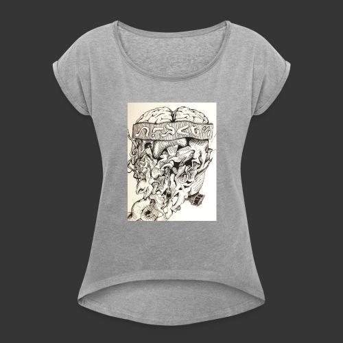 Brain Malfunction - Women's Roll Cuff T-Shirt