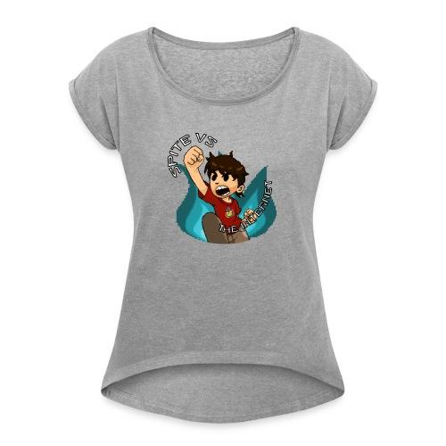 Spite Vs. The Internet - Women's Roll Cuff T-Shirt