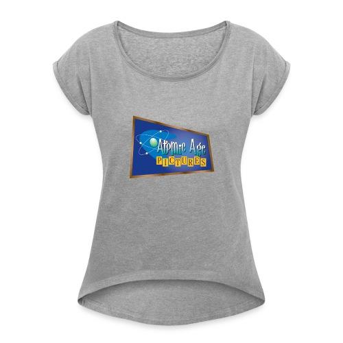 AtomicAgeLogo - Women's Roll Cuff T-Shirt