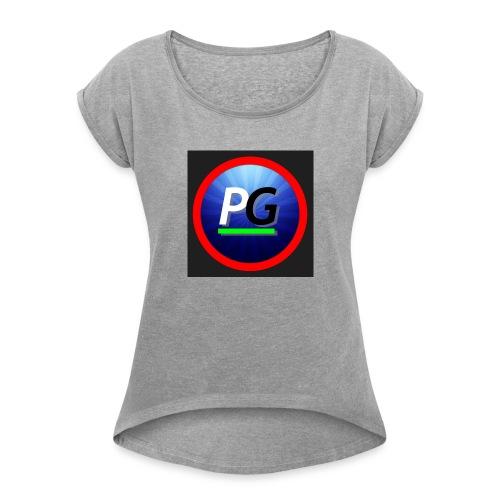 PG logo - Women's Roll Cuff T-Shirt