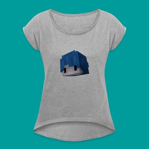 TDPMC's head - Women's Roll Cuff T-Shirt