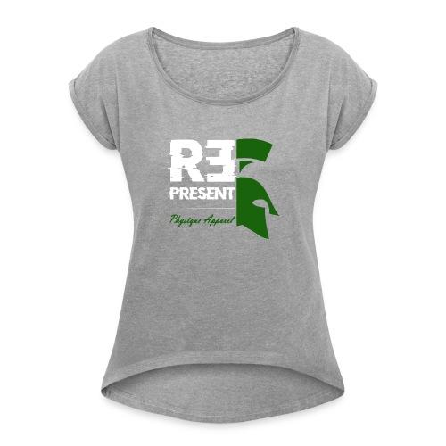 repstate - Women's Roll Cuff T-Shirt