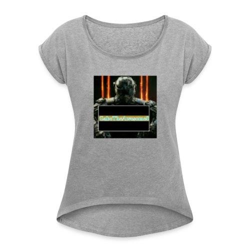 GabeTheAwesome8 - Women's Roll Cuff T-Shirt