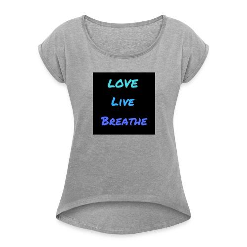 The Day Shift Academy Blue LLB Design - Women's Roll Cuff T-Shirt