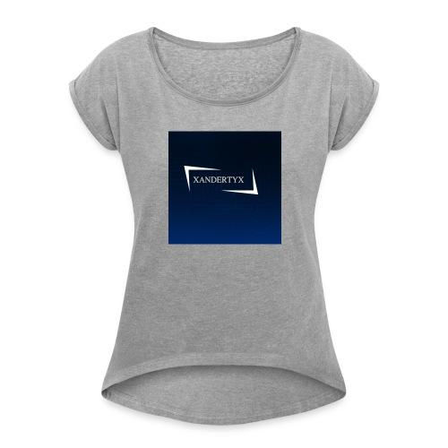 xAnderYTx logo - Women's Roll Cuff T-Shirt