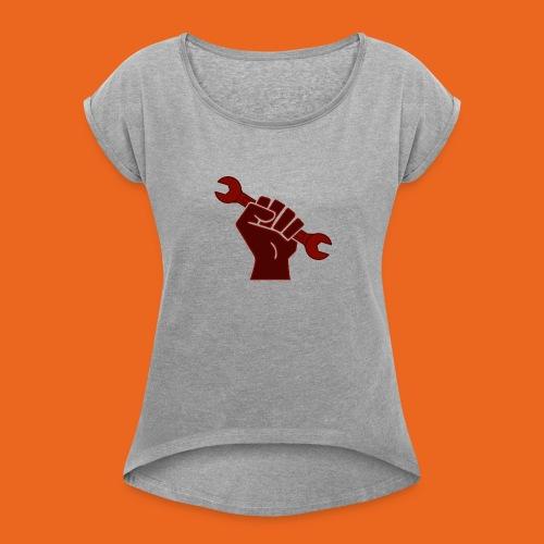 Rustbin Raider - Women's Roll Cuff T-Shirt