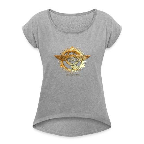 Jerusalem Music Logo - Women's Roll Cuff T-Shirt