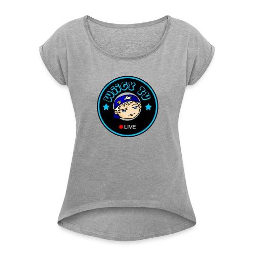 Wiigy Logo - Women's Roll Cuff T-Shirt