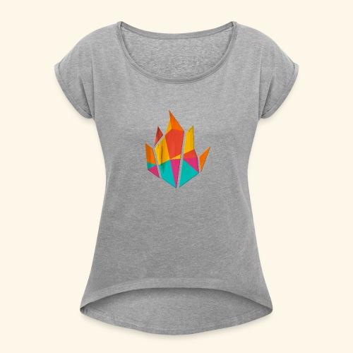 Modern Fire - Women's Roll Cuff T-Shirt