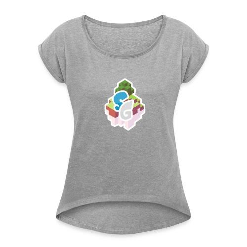 SkyGames Logo MODERN - Women's Roll Cuff T-Shirt