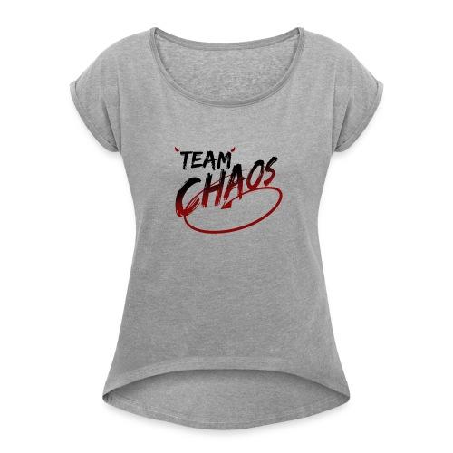 TEAM CHAOS - Women's Roll Cuff T-Shirt