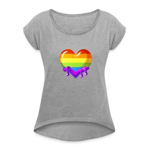 Pride Emote - Women's Roll Cuff T-Shirt