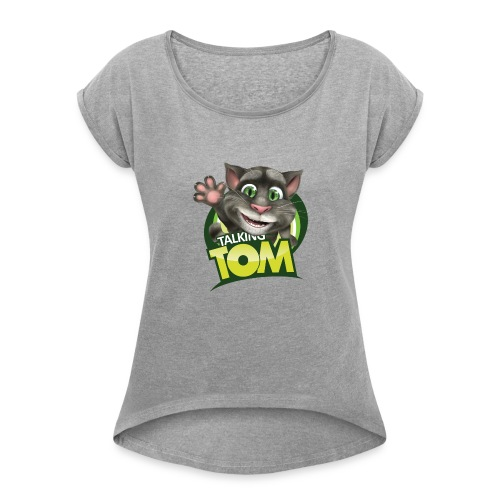 Talking_TOM_wave_preview_lowRes - Women's Roll Cuff T-Shirt