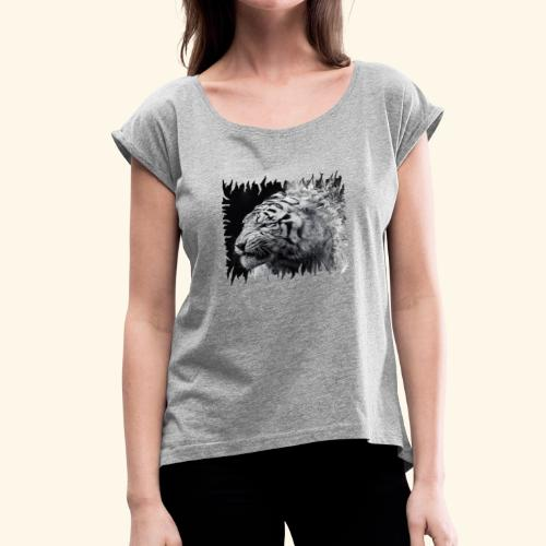 tigre - Women's Roll Cuff T-Shirt